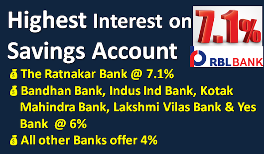 Highest Interest Rate on Bank Savings Account