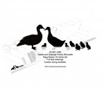 Geese and Goslings Family Silhouette Yard Art Woodworking Pattern - fee plans from WoodworkersWorkshop® Online Store - goose,geese,baby ducks,ducklings,silhouettes,on the farm,yard art,painting wood crafts,scrollsawing patterns,drawings,plywood,plywoodworking plans,woodworkers projects,workshop blueprints
