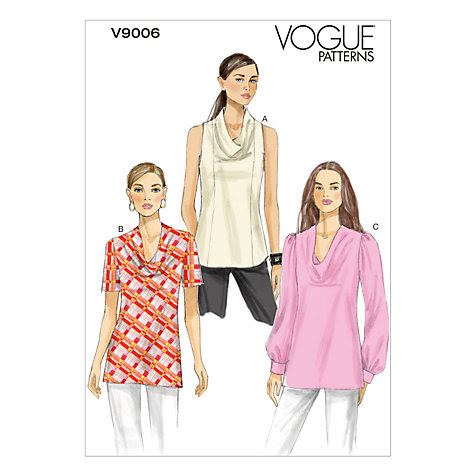 Buy Vogue Women's Tops Sewing Pattern, 9006 Online at johnlewis.com