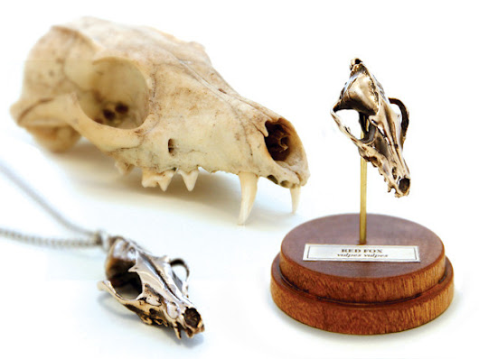 FIRE & BONE: Tiny, Digitally Captured, Metal Animal Skulls