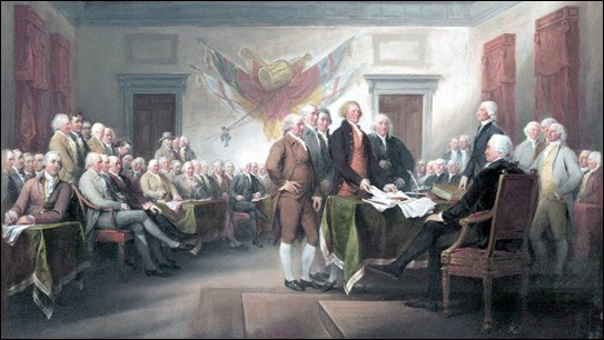 The Declaration of Independence, July 4, 1776, by John Trumbull