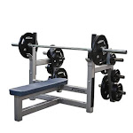 Legend Olympic Flat Bench with Plate Storage