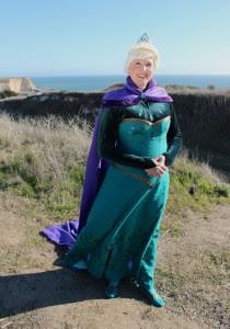 Elsa at the fjords