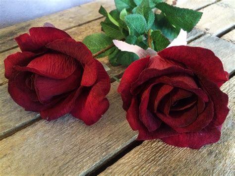 Red Velvet Rose Bud   Heavenly Homes & Gardens   Silk