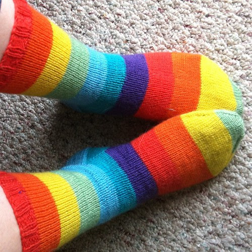 #norepeatdec Day 8: Regia Nation Color rainbow socks!