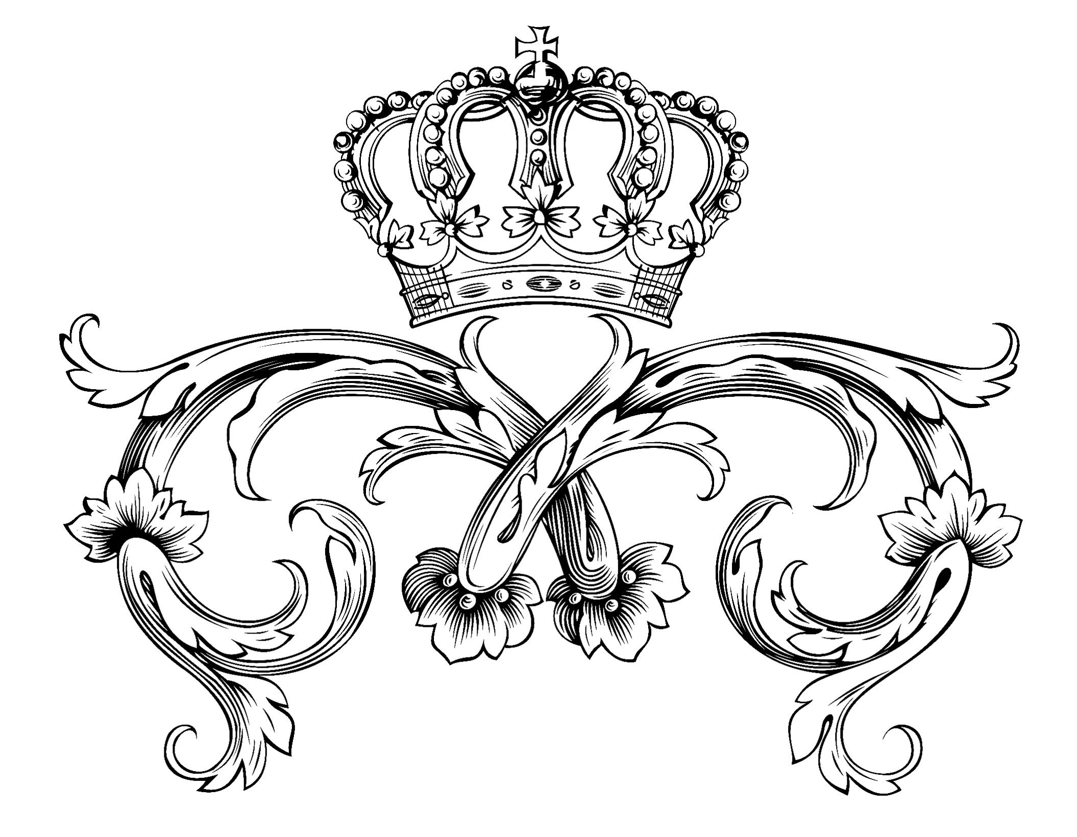 coloring adult symbol royal crown by dl1on
