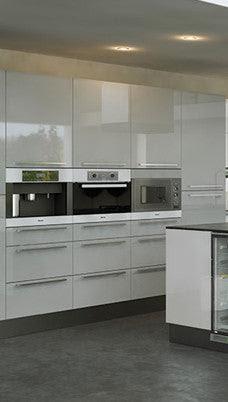 Firbeck Supergloss Light Grey High Gloss Kitchen Doors ...