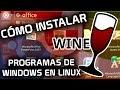 ▷ INSTALAR Programas de Windows en Linux | Wine en Ubuntu