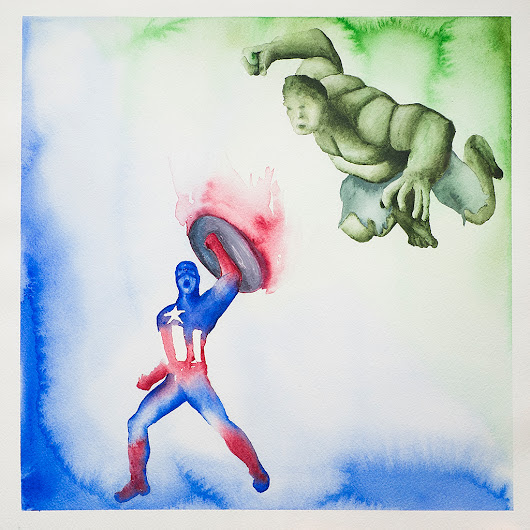 Commission: Captain America vs Hulk