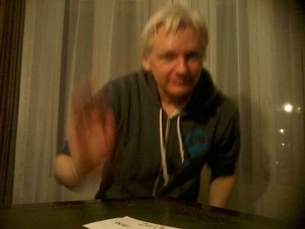 Parcel Camera Captures Photos of Julian Assanges Life in Hiding julianassange 4