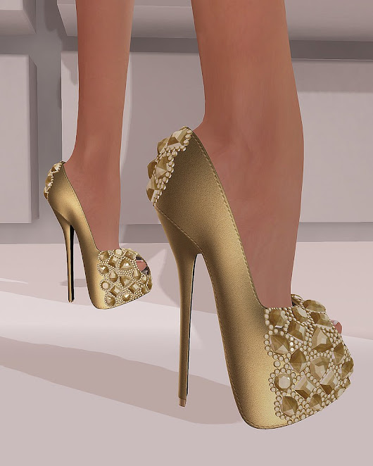 A View On My Inventory: :: PurpleMoon :: Satine Heels -Gold-