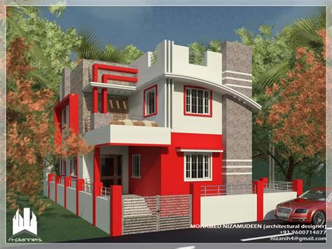 contemporary style house design   sqft