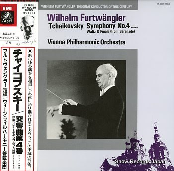FURTWANGLER, WILHELM tchaikovsky; symphony no.4 in f minor