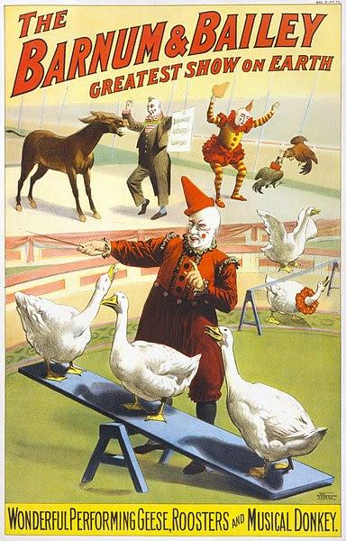 File:Barnum & Bailey clowns and geese2.jpg