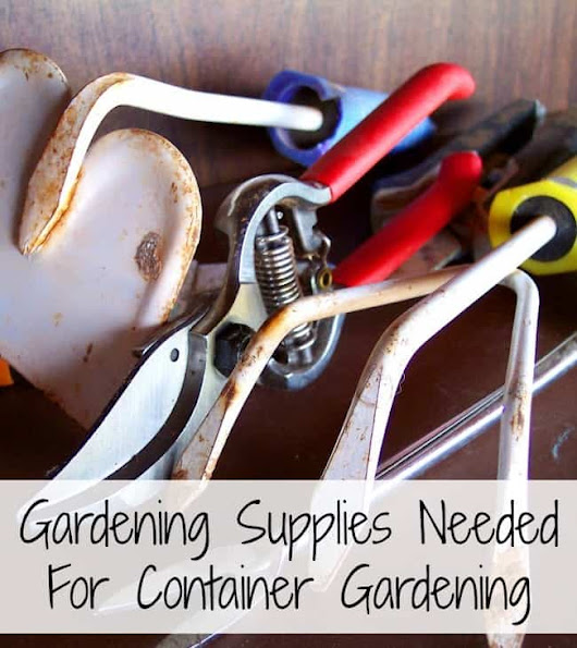 Gardening Supplies Needed For a Container Gardening