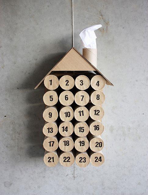 diy advent calendar made from toilet paper rolls
