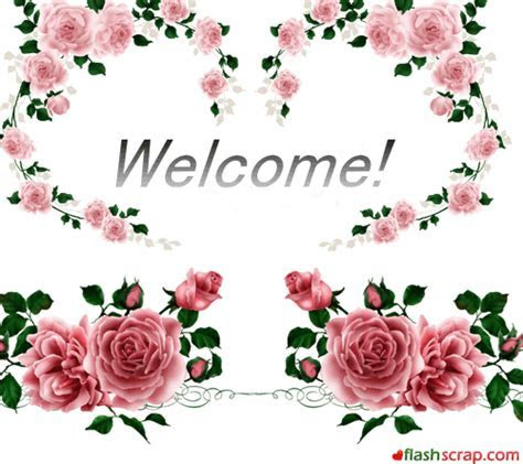 Welcome Scraps and Welcome Facebook Wall Greetings