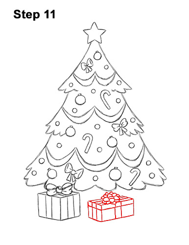 how to draw a christmas tree with presents step by step how to wiki 89 christmas tree with presents step