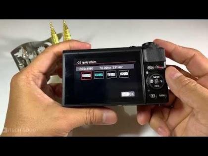 Cách chỉnh để quay Video 1080p60 cho Canon G7x ii