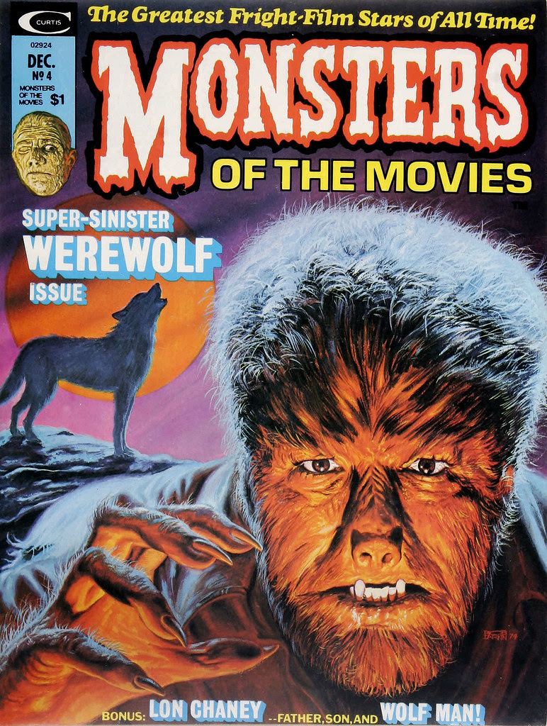 Monsters Of The Movies, Issue 4 (1974) Cover Art by Bob Larkin