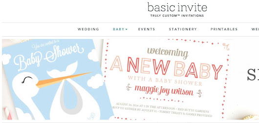 Basic Invite: Book Themed Baby Shower Invitations