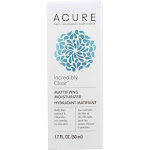 Acure Incredibly Clear Moisturizer, Mattifying - 1.7 fl oz