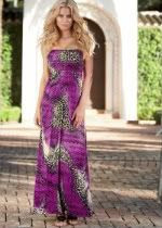 Venus leopard long dress
