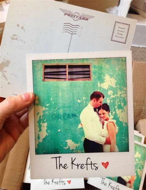 Personalised Polaroid Wedding Thank You Cards