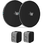 Just Wireless 2pk 5W Qi Wireless Charging Pads (with Wall Adapters) - Black