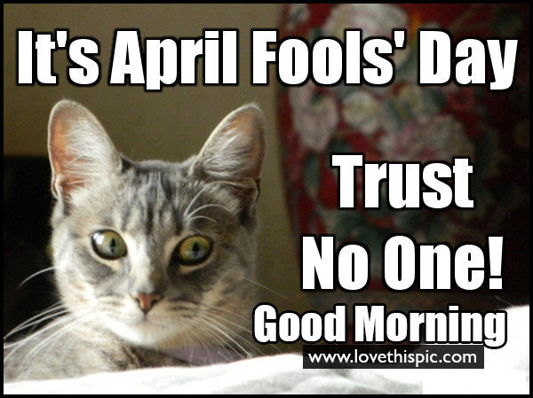 Trust No One Its April Fools Day Good Morning Pictures Photos