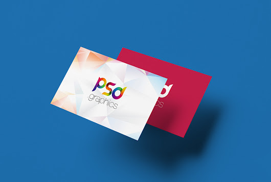 Floating Business Card Mockup PSD | PSD Graphics