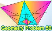 Problema de Geometría 50: Triangulo escaleno con triángulos equiláteros, Perpendiculares, Puntos medios y Congruencia.