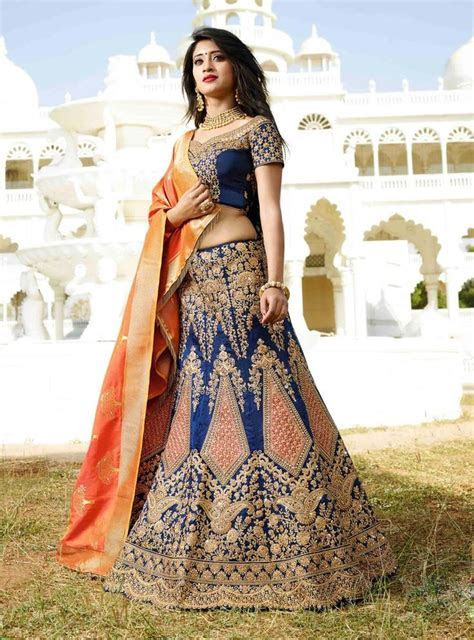 Bridal Choice Lehenga 2017 BRIDAL WEAR BLUE LEHENGA CHOLI