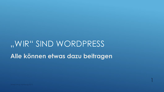 Contributing WordPress for german speaking people. Talked about at WordCamp Hamburg 2014. #wchh14