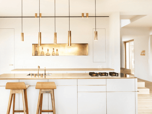 25 Ways to Use Gold Accents in the Kitchen | DesignRulz