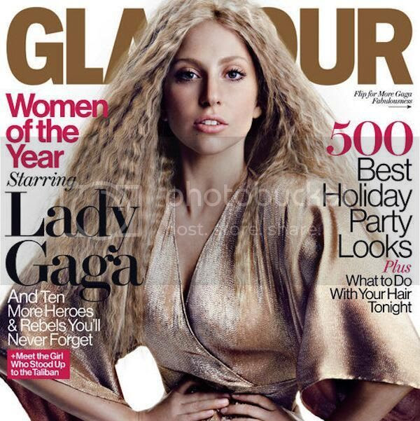 Lady Gaga looks like a lady in cover shoot for 'Glamour' US [December 2013]...