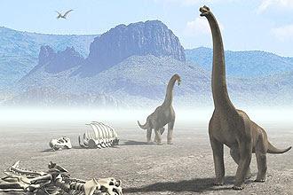 Concepção artística de saurópodes