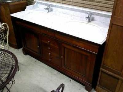 Les concepteurs artistiques meuble salle de bain bois for Meuble sdb castorama