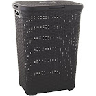 Curver Style 60 Liter Hamper, Dark Brown
