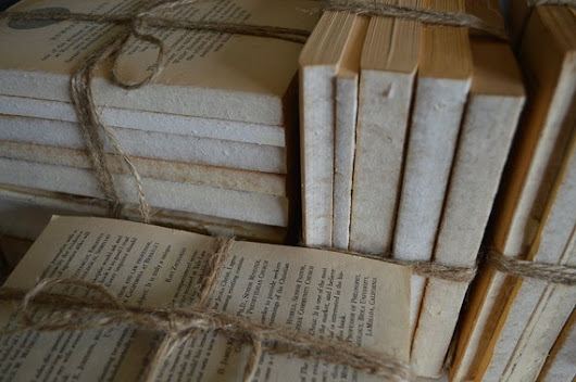 Old Rustic Books for Display Wedding Vintage Book by JuliBecker