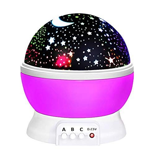 2-10 Year Old Girls Gifts, Ouwen Star Rotating Night Light for Kids Christmas Best Top Fun Gifts ...