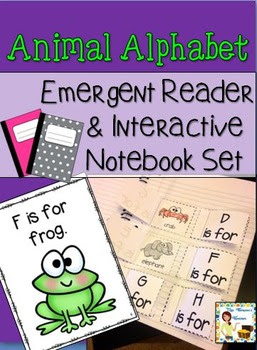 Animal Alphabet Interactive Notebook & Emergent Reader Set