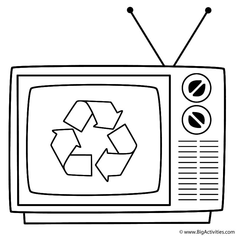 Ahmedatheism Gambar Mewarnai Televisi