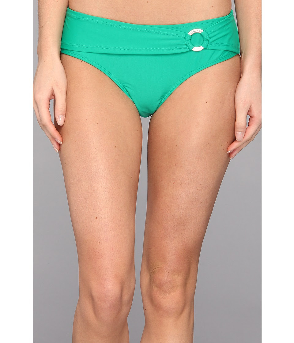 Body Glove - Smoothies Contempo Belted High Waist Bottom (Emerald) Women's Swimwear