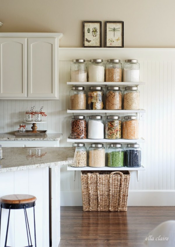 Fall Kitchen Pantry on Display via Ella Claire Blog