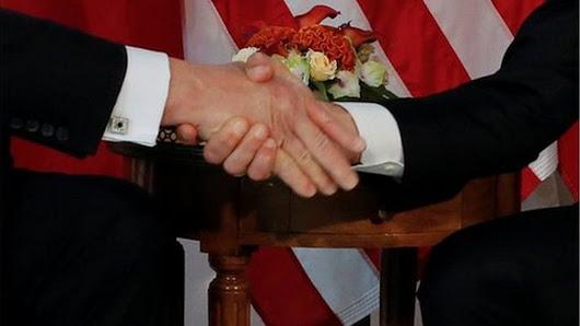 Macron: Awkward Trump handshake a 'moment of truth' - BBC News