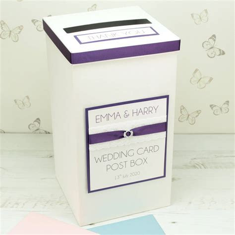 personalised crystal lace wedding post box by dreams to