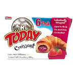 Today Soft Croissant, Perfect Breakfast Pastry, Individually Wrapped (Strawberry, Pack of 12)