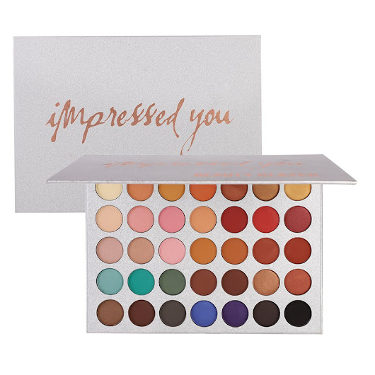 Palette ombretto, Angmile matte smoky Shimmer glitter Eyeshadow primer 35 colori impermeabile trucco palette cosmetici