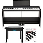 KORG B2SP 88-Key Digital Piano with Stand, Three-Pedal Unit, Knox Gear Piano Bench and Piano Book